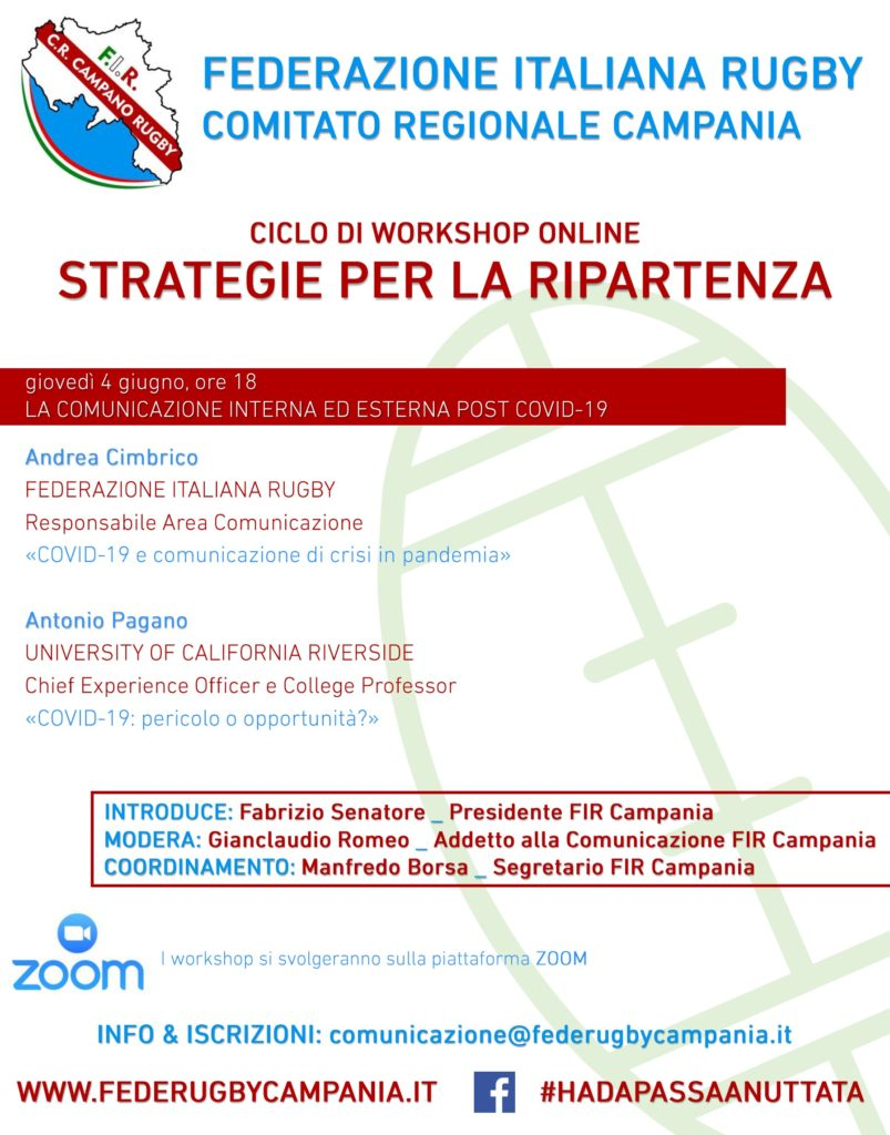 workshop FIR Campania - Strategie per la ripartenza - comunicazione post covid19